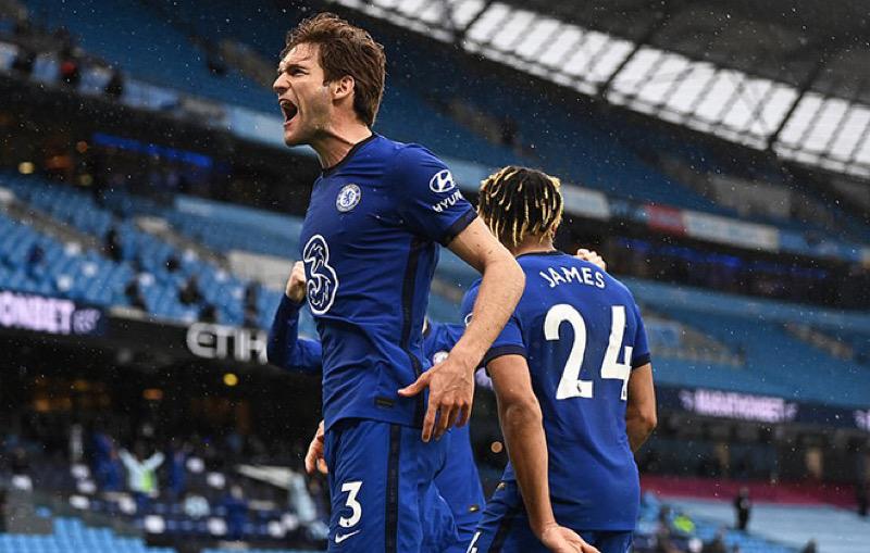 Marcos ghi bàn ấn định chiến thắng cho Chelsea trong những phút cuối cùng
